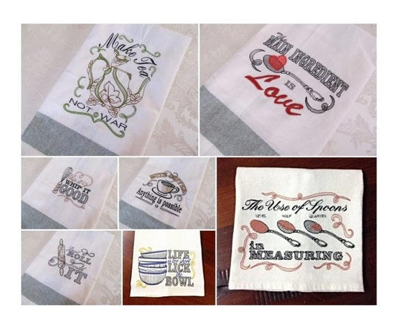 Pack Price 7 Towel Embroidery Designs Quick Stitch