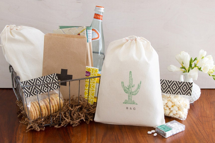Gift Bag Ideas For Wedding Guests: Cactus Welcome Bag Destination Wedding Welcome Bags Desert