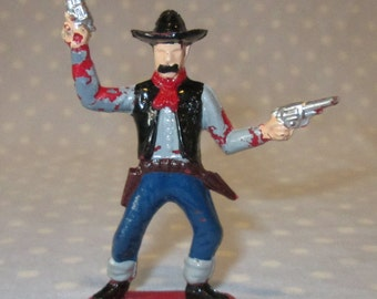 Vintage Tim-Mee Tim Mee Cowboy Toy Lasso Rope Old West Western Fort Rodeo Plastic Figure Painted Unique A3
