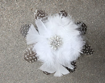 Polka Dot Bridal Fascinator