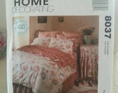 Craft Pattern on Sale 3.00  1995 McCall 8037  Home Decorating Bedroom Essentials Uncut