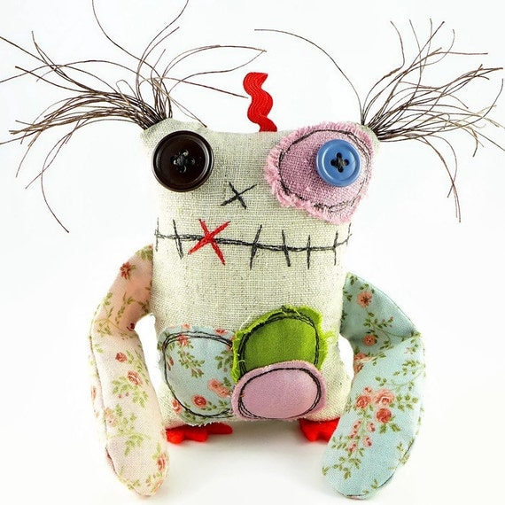 Plush Monster. Stuffed Monster Toy. Ooak Halloween Gift.