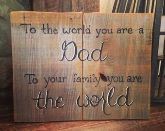 Reclaimed Wood Dad Sign