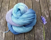 Variegated Hand Dyed Sock Yarn, Singles Sock Yarn, light fingering weight yarn, Falkland Merino yarn, 100g