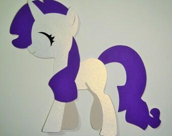 My Little Pony Rarity  Paper Die Cut Paper Doll Scrapbook Embellishment
