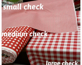 Plaid tablecloth-red checked,navy white, picnic theme wedding party table decoration duck linen -kitchen-custom tablecloth by Nurdanceyiz