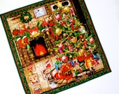 Advent Calendar Quilt Wall Hanging  Christmas Eve Tree Fireplace Activity Panel CIJ