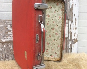Red Samsonite Suitcase for Home Decor