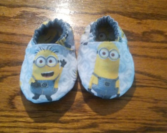 soft soled baby shoes Miniouns are here
