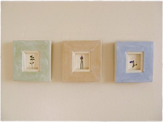 Herbal Mix--- Pressed Herbs in Cottage Frames