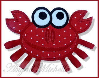 Crab Banner Add On - 3 Sizes, Machine Embroidery