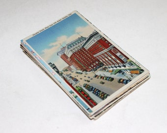 50 Vintage United States Postcards Blank - Mix of Chrome and Linen - Travel Themed Wedding Guestbook