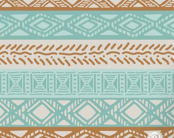 Tribal Border Craft Stencils for Small DIY Projects, Painted Furniture Upcycle, Scrapbooks, African Decor