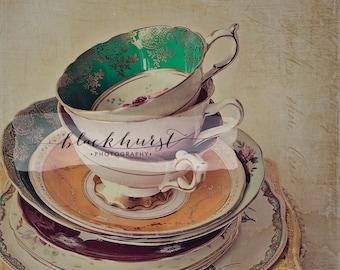 Tea Cups III Fine Art Print