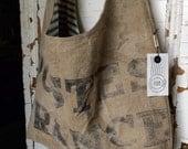 POSTES FRANCE - reconstructed vintage french mail sack sling bag