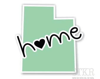 Utah home state vinyl sticker, your choice of color
