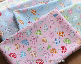 w141_45 - colorful umbrella fabrics - cotton fabrics - half Yard ( 6 color to choose )