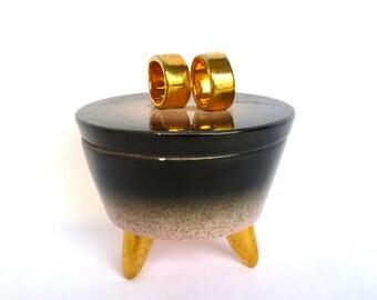 Vintage PINK/BLACK JAR/ Glam Hollywood Style Jar