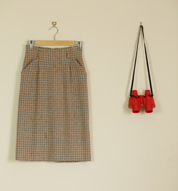b2ddab1480 Business Casual Pencil Skirt · Mad Men Pencil Skirt: Vintage 50s Brown And  Cream Tweed Pencil Skirt Mad Men
