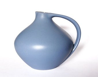 Vintage Very Rare Light Blue Lava Pitcher Ruscha 315  70s