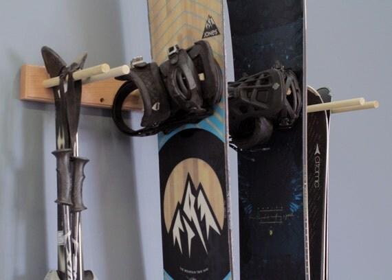 Snowboard Amp Ski Wall Rack Mount