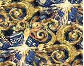 Doctor Who Exploding Tardis cotton fabric by Springs Creative - police box, dr who, bbc, time machine