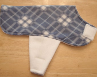 Slate Blue Plaid Dog Coat