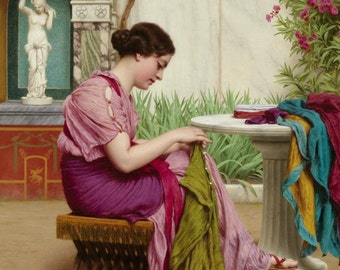 A Stitch in Time, Godward - Cross stitch pattern pdf format