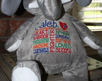 CHD personalized Elephant Warrior Pet, stuffed animal