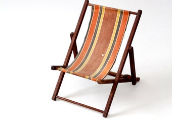 vintage children's deck chair, beach chair