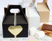 36 Party Favor Gable Boxes (Medium),  Wedding Favor Boxes, Food Favor Boxes, Welcome Guest Boxes, Party Favor Boxes, Gift Boxes