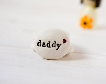 Fathers Day Gift Pebble. Gift for dad, daddy - comes with gift pouch - personalised by you