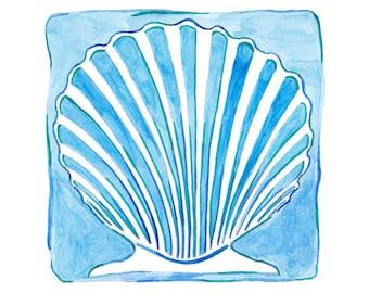 Beach Art - Seashell Art - Beach Decor - Beach House Art - Beach Housewarming Gift - Seashell Decor - Beach Themed Gifts