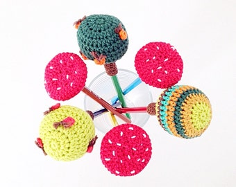 Crochet Pencil Toppers PDF Pattern - Instant Download
