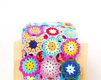 Japanese Flower Blanket Throw PDF Crochet Pattern - Instant Download