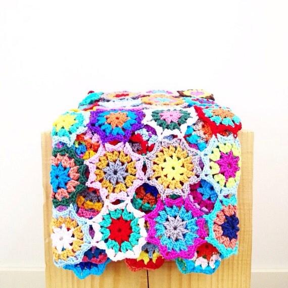 Japanese Flower Crochet Afghan Pattern : Japanese Flower Blanket Throw PDF Crochet Pattern ...
