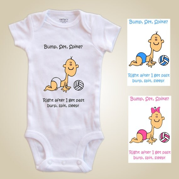 Volleyball  baby one piece - Bump set spike