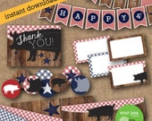 "INSTANT DOWNLOAD: Printable Party Pack - ""Summer BBQ - Gingham"""