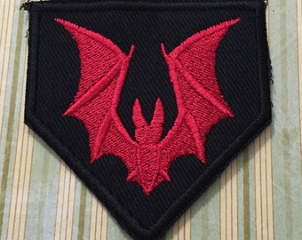 Red Bat Patch - Pentagon shape