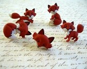 Fox Animal Thumbtack,  Fox Animal Push Pin, Notice Board Pins, Fox Deco, Red Fox