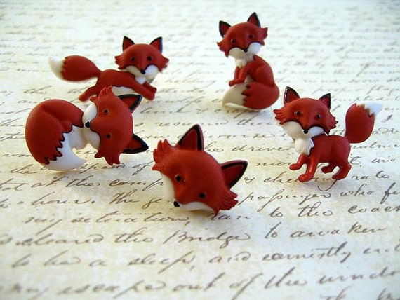 fox animal thumbtack fox animal push pin notice board pins. Black Bedroom Furniture Sets. Home Design Ideas