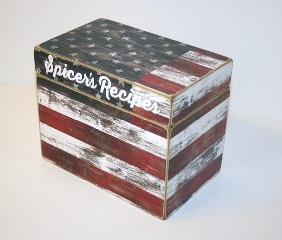 Decorative Recipe Box 2: Fourth Of July Decorative Boxes