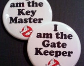 "1.5"" Buttons OR Magnets-Ghostbusters Inspired, Set of 2"