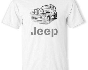 Jeep Wrangler T-Shirt S,M,L,XL.