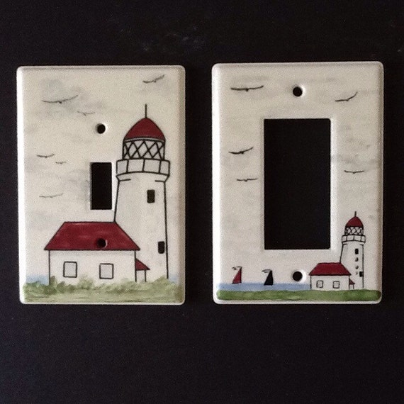 Ceramic lighthouse switch plates for Lighthouse switch plates