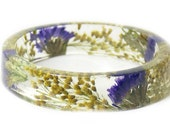 Bracelet - Real Flowers  - Real Flower Jewelry- Flower Jewelry - Yellow Flower Jewelry-  Jewelry made with Real Flowers