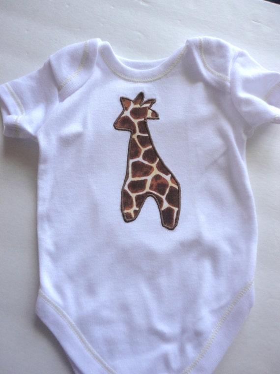 Little Giraffe Baby Onesie, Gender Neutral Onesie