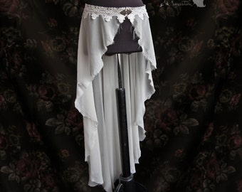 Skirt voile, tattered ghostly wrap skirt, elf, faery, Manes, Somnia Romantica, size large - extra large see item details for measurements