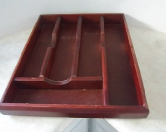 Mikasa Wooden Flatware Tray  Silverware Tray  Storage Tray