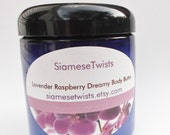Lavender Raspberry Dreamy Body Butter,dry skin cream with lavender